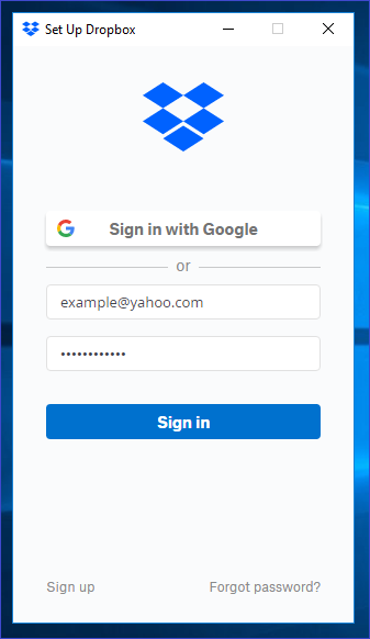 Dropbox Online Login and Password