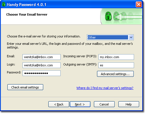 how do i find my e mail server